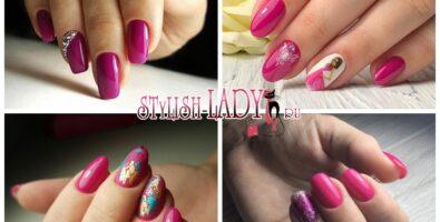 Маникюр цвета фуксии — яркие идеи для коротких и длинных ногтей